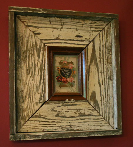... framed vintage greeting card ... - Bliss Design Custom Projects And Furnishings