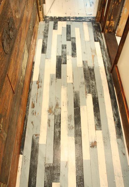 timeless whitewashed mahogany floors handpainted nantucket style foyer - White Distressed Wood Flooring